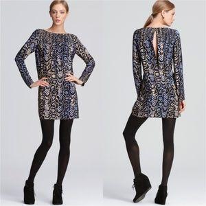 Tibi Python Shift Silk Cocktail Dress